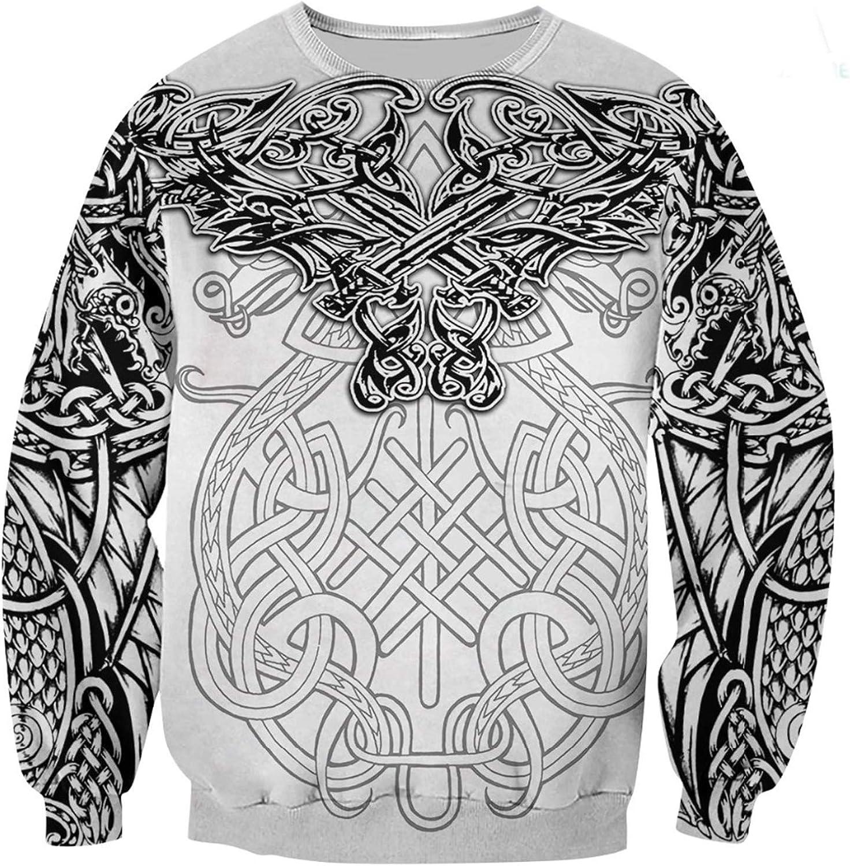 Viking Dragon Hoodies,Tattoo 3D All Over Printed Hoodie Harajuku Streetwear Sweatshirt Unisex Casual Jacket Tracksuits