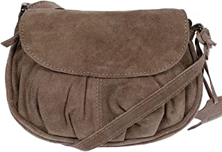 Christian Wippermann Leder Schultertasche Abendtasche Umhängetasche Überschlagtasche Ledertasche 22cmx18cmx5xcm BxHxT Taupe