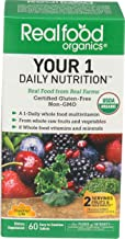 Country Life Realfood Organics - Your Daily Nutrition Multivitamin - 60 Easy-to-Swallow Tablets