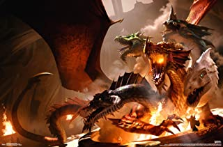 Trends International Dungeons and Dragons - TIAMAT Wall Poster, 22.375