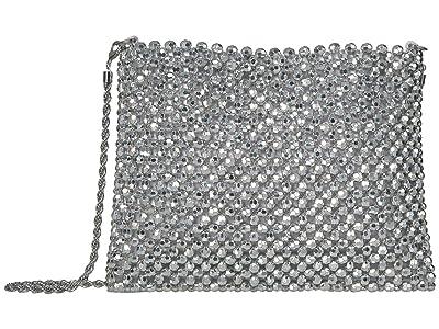Loeffler Randall Mia Beaded Pouch (Silver) Handbags
