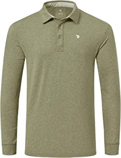 TBMPOY Men's Polo Shirts Long Sleeve Outdoor Quick Dry Athletic Golf T-Shirts