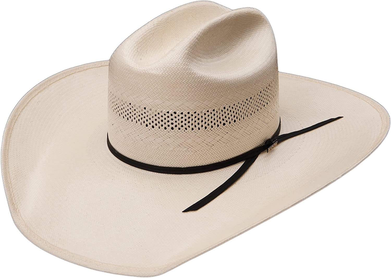 RESISTOL Mens 20X Cut Bank Straw New Orleans Mall Hat Cowboy Japan Maker New