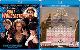 Vibrant Magician and a Hotel Blu Ray Movie Comedy Pack Wes Anderson The Grand Budapest Hotel + The Incredible Burt Wonderstone Steve Carell Double Feature Pack