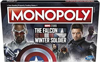 MONOPOLY - The Falcon and The Winter Soldier Edition Board Game - Marvel Themed Game Board - 2-6 Players - Family Board Ga...