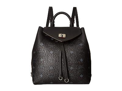 MCM Essential Visetos Original Backpack Small (Black) Backpack Bags
