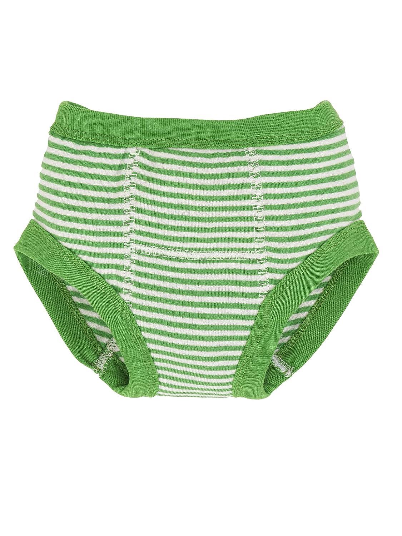 Organic Training Pants - Green Stripes 12-24m