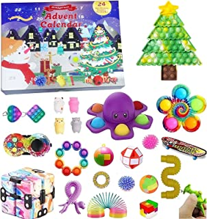 Fidget Toy Adventskalender 2021, Kerst Countdown Kalender 24 dagen Figetsss Toys Sets Stress Relief en Angst Goedkope Fidg...