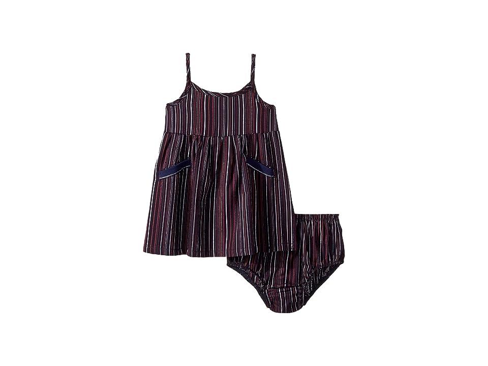 Splendid Littles Striped Cami Dress (Infant) (Navy/Stripe) Girl