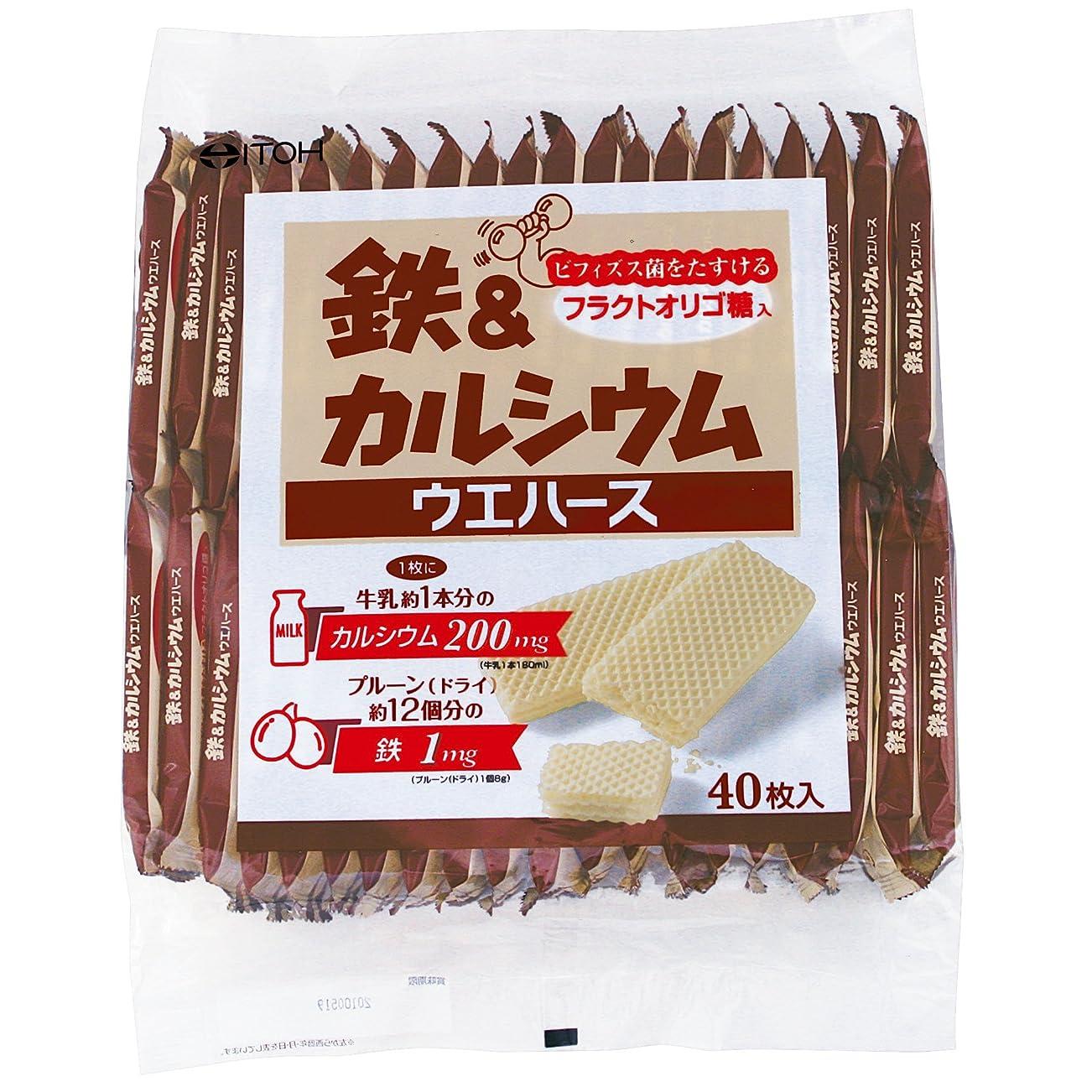 干渉する正しいアライメント井藤漢方製薬 鉄&カルシウムウエハース 40枚