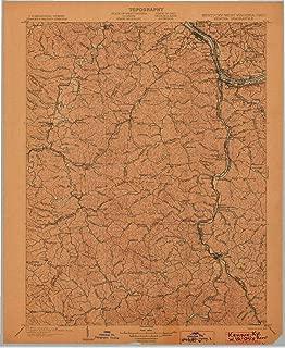 YellowMaps Kenova KY topo map, 1:125000 Scale, 30 X 30 Minute, Historical, 1903, 20.1 x 16.4 in