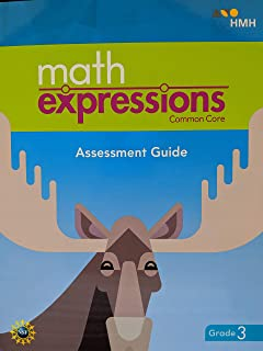 Math Expressions, Common Core, Assessment Guide BlackLine Master with Answer Key Grade 3, 9781328703651, 1328703657