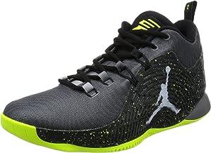 Jordan Nike Men's CP3.X Dark Grey/White/Black/Volt Basketball Shoe 10.5 Men US