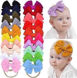 20 lazos para el pelo de nailon para bebés, recién nacidos y niños