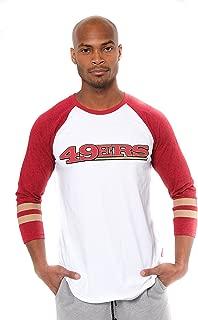 NFL Men's T Raglan Baseball 3/4 Long Sleeve Tee Shirt