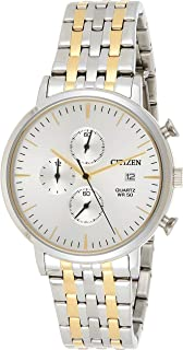 Citizen Casual Watch For Men Analog Stainless Steel - AN3614-54A, White