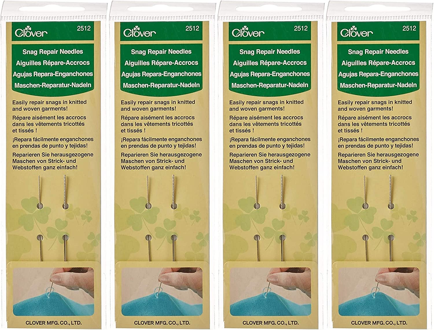 Silver 2 Count-2 Pack Clover Snag Repair Needles