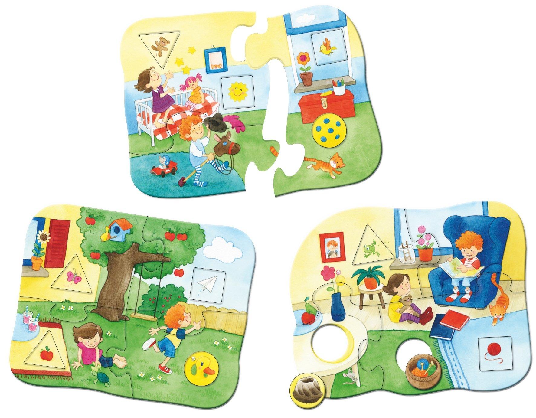 HABA 301649 Puzzle 7 pc Boy//Girl, 2 yr - Rompecabezas s 7 pc Cardboard 620 g s s