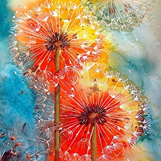 QIQIU DIY 5D Crystal Embroidery Full Diamond Point Diamond Painting by Number Kits - 8087 Dandelion