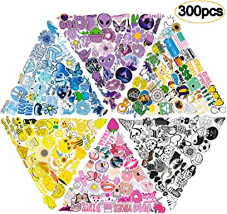 300PCS Mixed VSCO Stickers for Water Bottles,Cute Funny Waterproof Vinyl Stickers Decals for Kids,Teens and Girls,Unique Durable Aesthetic Trendy Sticker Perfect for Hydro Flask,Laptop,Computer,Phone