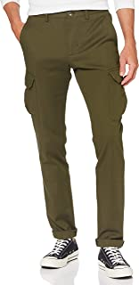 Tommy Hilfiger Uomo Bleecker Cargo Fine Pd Structure Pantaloni, Utility Olive, W32/L34