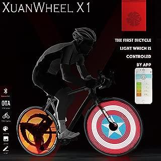 My Toots Smart Bluetooth APP Programmable Bike Spoke Light Cadence Sensor Wheel Light for iOS Android