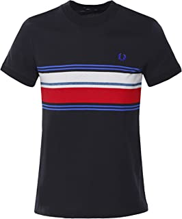 Men's Crew Neck Marl Stripe T-Shirt M7573 102 Black
