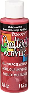DecoArt Crafter's Acrylic Paint, 4-Ounce, Christmas Red