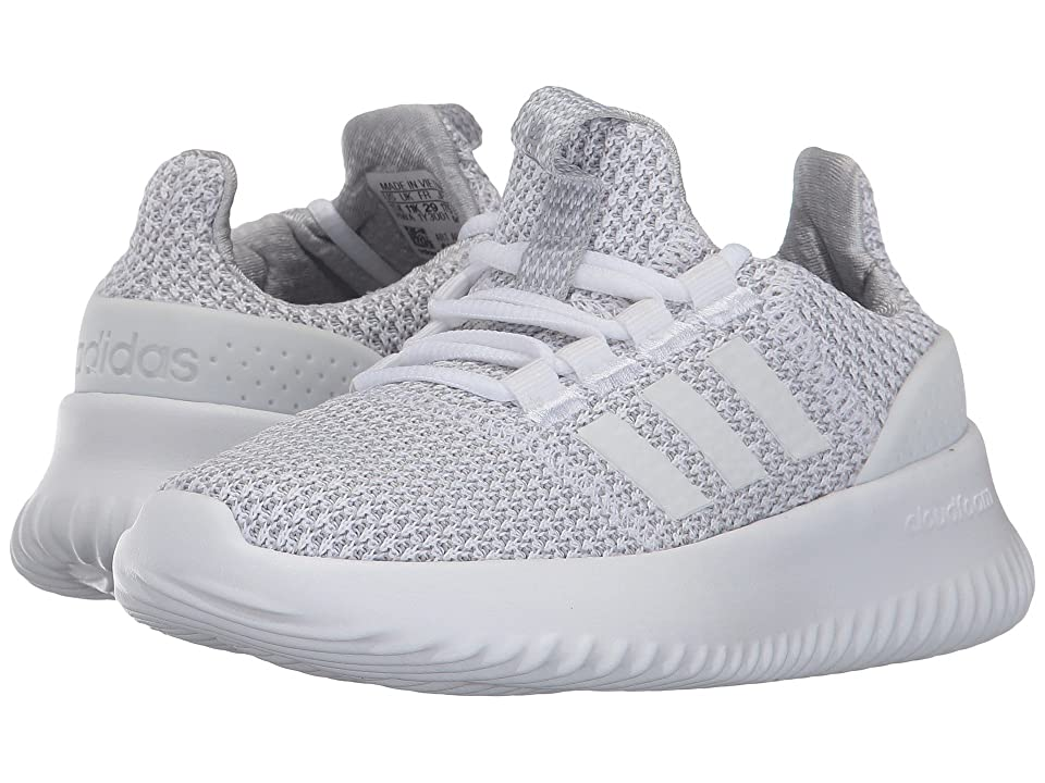 adidas Kids Cloudfoam Ultimate (Little Kid/Big Kid) (Footwear White/Footwear White/Grey Two) Kids Shoes