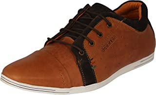 Buckaroo Men's Leather Lace-Up Flats