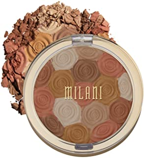 Milani Illuminating Face Powder - Amber Nectar (0.35 Ounce) Cruelty-Free Highlighter, Blush & Bronzer in One Compact to Sh...