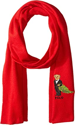 Christmas Tree Bear Scarf