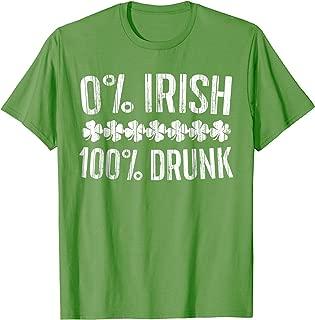 0% Irish 100% Drunk T-Shirt Vintage St. Patrick Day Gift