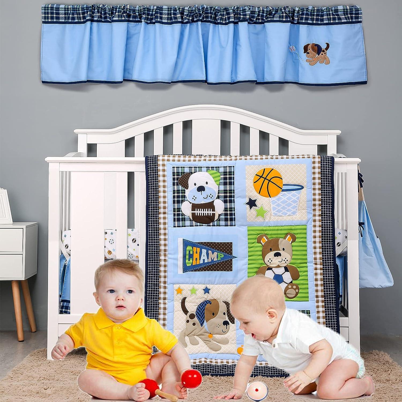 Brandream favorite Crib Bedding Sets for Baby 5-P Boys Max 54% OFF Dogs Sport - Champ