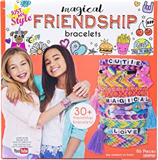 Just My Style Make Your Own Magical Friendship Bracelets by Horizon Group USA, Create Over 30 Unique Friendship Bracelets & Fun Charms,Threads,Beads,Charms,Tassels & Instructions Included,Multicolored