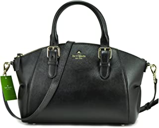 Kate Spade New York Womens Leather Charlotte Street Small Sloan Shoulder Bag, Black, One Size