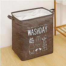 JUNQIAOMY Kosz do przechowywania, składany, brudny kosz na pranie organizer na brudne ubrania (kolor: brązowy)