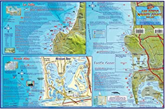 Franko Maps San Diego County Coast Dive Map Laminated Poster