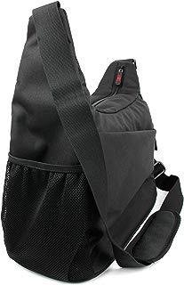 DURAGADGET Durable Shoulder 'Sling' Bag in Black & Orange - Suitable for Aptoyu Wireless Speaker