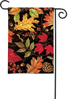 BreezeArt Studio M Autumn Symphony Fall Harvest Garden Flag - Premium Quality, 12.5 x 18 Inches