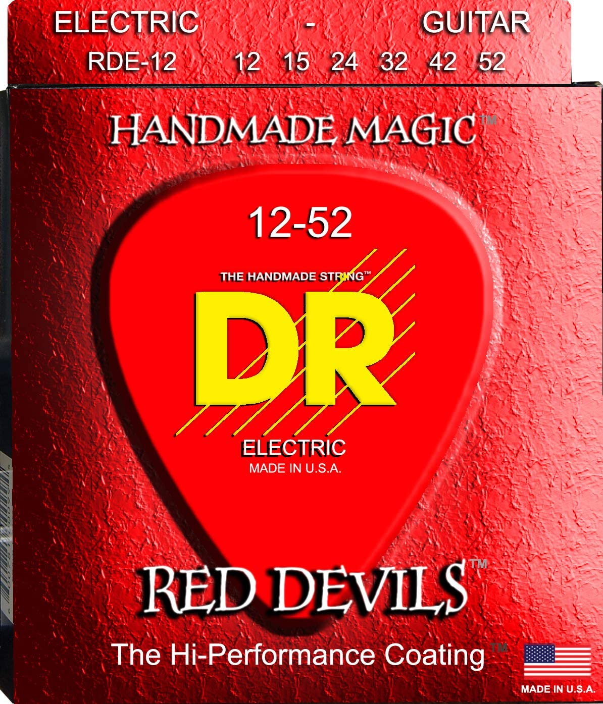 DR Strings Manufacturer OFFicial shop Red Devils - Extra-Life 12-52 Tulsa Mall Electric Coated