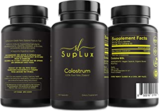 SupLux New Zealand Colostrum 100% Pure 120 Capsules 1000mg Immunity and GI Support