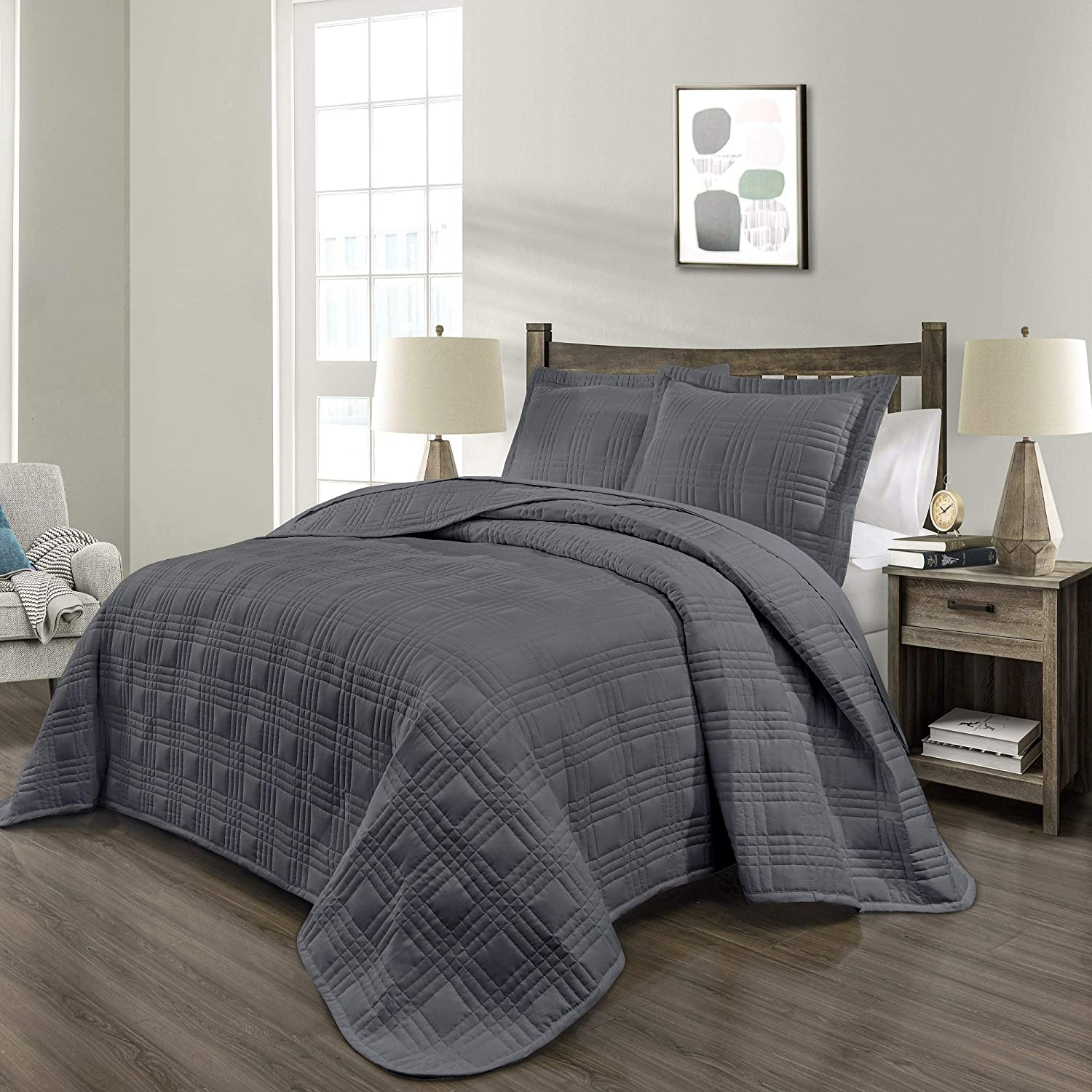PHRIXUS Quilt Fees free Bedspread Coverlet Lowest price challenge Set Lightweight Ultra Soft Fill
