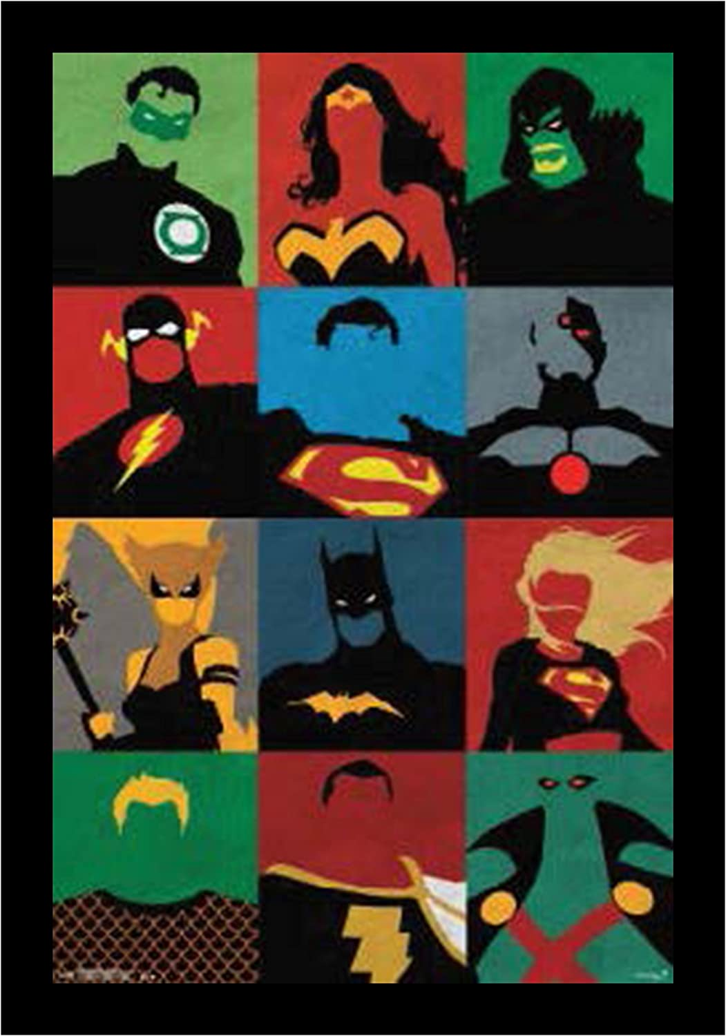 Crystal Art 130346  Sign of the Times  Justice League Minimalist Art Sign Wall Décor, 24 x 36