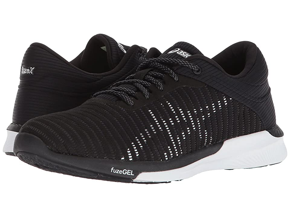 ASICS fuzeX Rush Adapt (Black/White/Dark Grey) Women