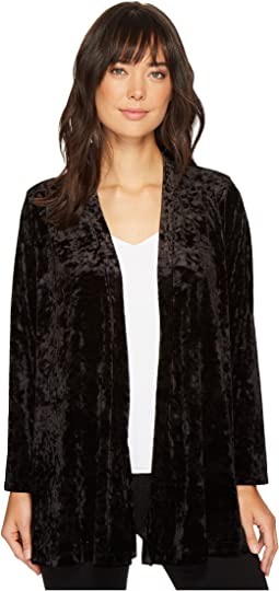 Nally & Millie - Velvet Cardigan with Open Back Pleat