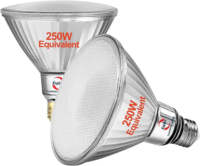 Explux Outdoor PAR38 LED Flood Max Max 50% OFF 85% OFF Bulbs 240 Equivalent 250W Light