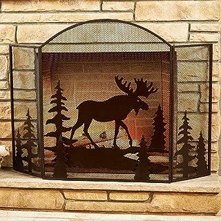 Moose Fireplace Screen - Lodge Decor