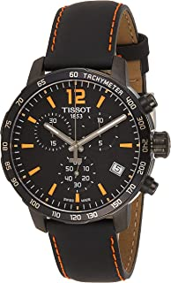 Tissot Men's T0954173605700 Quickster Chronograph Analog-Display Swiss Quartz Black Watch