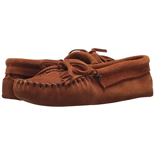 c25f533b1e7 Minnetonka Women s Kilty Suede Softsole Moccasin Brown
